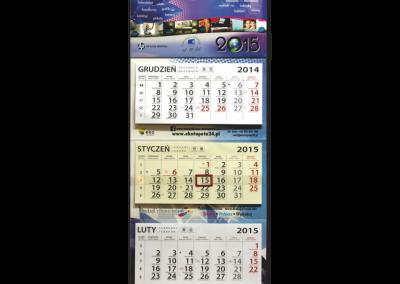 Kalendarz trójdzielny foto