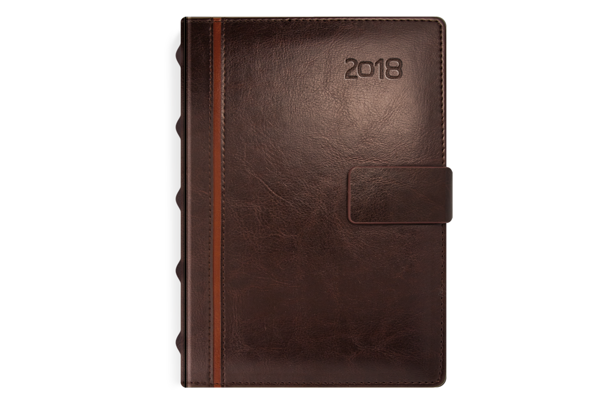 Kalendarz książkowy z kolekcji Elegant Orzechowy brąz