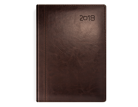 Kalendarz książkowy z kolekcji Classic Czekoladowy brąz