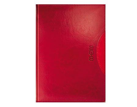 Kalendarz książkowy z kolekcji Classic Czerń i czerwień