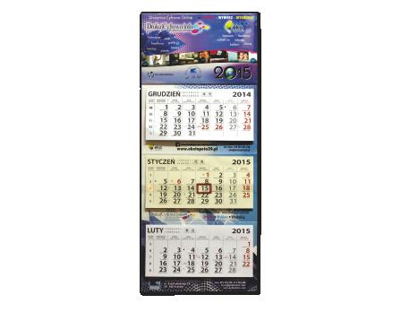 Kalendarz trójdzielny offset
